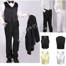 Gentleman Kids Boys Waistcoat Formal Birthday Party Wedding Suit Dress Vest 2-14