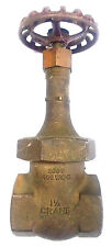 "CRANE #424 1-1/2"" NPT Threaded Bronze Gate Valve"