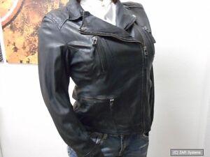 Oakwood 60861 Damen Jacke 100% Leder, Lederjacke, Schwarz, Gr.S (34/36), TA-002