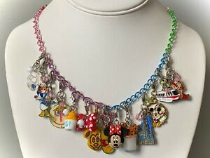 Disney Parks Charmed in the Park 15 Classic Disney Charm Necklace: Mickey Minnie