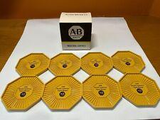 Vintage 1989 Allen Bradley 8 Coaster Set, A-B Mustard Yellow, Nos, Promo, Usa