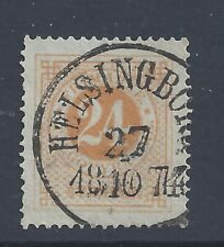 SWEDEN 1872  24ö  YELLOW   PERF 14  USED  SG 23