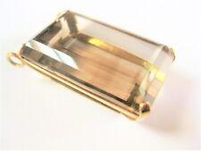Ciondolo Oro 585 con Topazio Fumè, 16,92 g