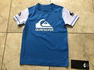 Quiksilver Boys Surf Tee/ Swim Shirt Blue, Size 5- NEW