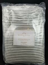 """Pottery Barn Emily Meritt Ticking Stripe Soft Black Panel Drape 84"""" #3629"""