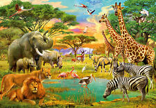 Wallpaper mural - photo wall in giant size 366x254cm Safari Wild animals africa
