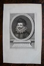 SCEVOLE DE STE MARTHE . PORTRAIT, GRAVURE ORIGINALE , 1760
