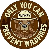 "Smokey Bear Prevent Wildfires Classic Vintage Retro Round Metal Sign 12""x 12"""