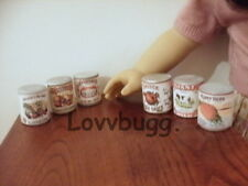 Groceries Cans 6 pcs Doll Food for American Girl Best Selection Found Lovvbugg