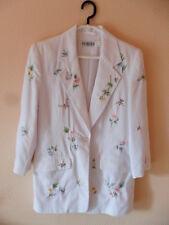 Weißer Damen Blazer Jacke mit Stickereien Together Größe 36 / S