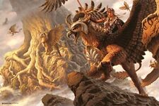 TORIN'S QUEST ~ GRIFFIN RIDERS ~ 24x36 FANTASY ART POSTER ~ NEW/ROLLED!