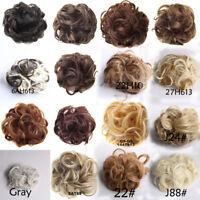 Women Girls Synthetic Fiber Pony Tail Hair Extension Wig Bun Scrunchie Hairpiece