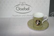 Goebel Porzellan Mocca Expresso Tasse + Untertasse Kaffe Set Thierry Poncelet