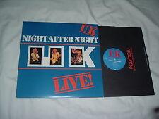 UK Night After Night LP JOHN WETTON KING CRIMSON prog.rock ORIGINAL MINT- !!!