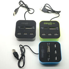 1*USB 2.0 Hub 3 Ports Card Reader Combo for MS/MS PRO DUO/SD/MMC/M2/Micro