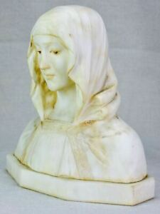 Antique marble bust - signed