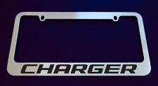 1 DODGE CHARGER LICENSE PLATE FRAME, CUSTOM MADE OF CHROME 1 Frame