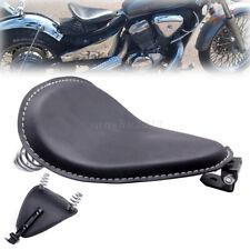 """Schwarz Fahrer Solo Sitz Pad mit 3""""Federhalterung für Harley Honda Yamaha Bobber"""