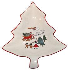 Mason's Christmas Village Tree Shaped Sweet Dish S/S