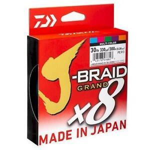 Daiwa J BRAID GRAND x8 500M Multi Colour Fishing Braid Line