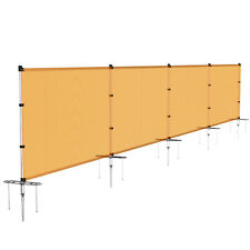 Orange 4ft Outdoor Mesh Fence with Pole Movable Freestanding Patio Pool Fencing