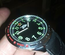 nice gents large military style 1980s Russian  USSR tank crew type watch