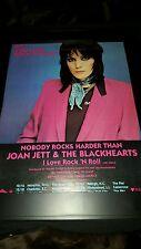 Joan Jett & The Blackhearts I Love Rock N Roll Rare Tour Promo Poster Ad Framed!