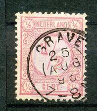 Nederland   30 F II gebruikt met kleinrondstempel GRAVE
