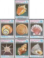 Nicaragua 2887-2893 (complète edition) neuf avec gomme originale 1988 mollusques