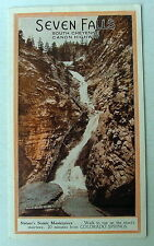 1930's Old Seven Falls South Cheyenne Canon Canyon Highway Illustrated Brochure
