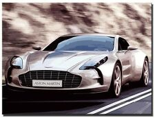 ORIGINAL CANVAS ABSTRACT PICTURE LARGE ART PRINT MODERN WALL ART ASTON MARTIN