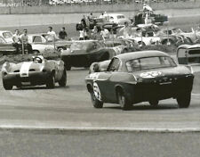 Vintage 8X10 Daytona 1964 Cheetah, Foyt Scarab & Volvo P1800 Auto Racing Photo