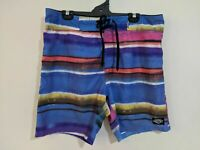 Piping Hot Men's Board Shorts Size Large Size 92 Blue Pink Yellow Swim