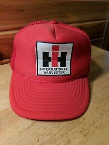International Harvester IH Red Mesh Trucker Cap Hat