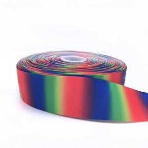 "Rainbow Ombre Design 2 50mm 2"" Grosgrain Ribbon per meter"