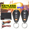 5 PCS Universal Car Keyless Entry System Central Control Security Lock 2 Remotes