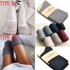 Women Winter Cable Knit Over knee Long Boot Thigh-High Warm Socks Leggings LOT