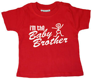 "Dirty Fingers Baby Boy T-Shirt ""I'm the Baby Brother"" Newborn Gift Little"