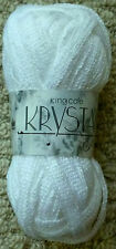 King Cole 100grm Krystal Glitter Scarf Yarn 608 Diamond.clearance Line
