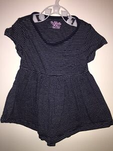 Girls Age 6-9 Months - Next Navy Striped Summer Dress