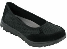 Womens Slip on Canvas Trainer Memory Foam PUMPS Casual Comfort Go Walking Shoes Black Uk6