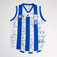 AFL Signed North Melbourne Jumper 2013-Home Guernsey-31 players Kangaroos L