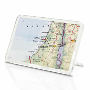 1 x Israel Travel Map Airport Destination Classic Fridge Magnet Kitchen#3660