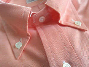 NWOT Brooks Brothers Orange Supima Oxford Cloth Button Down Regent MSRP $140
