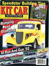Kit Car Illustrated Magazine December 1992 Romping & Stomping EX 022216jhe