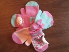 Nwt Jumping Beans Girls 2T-4T 3 Pair Of Kitten Mittens With Grippers