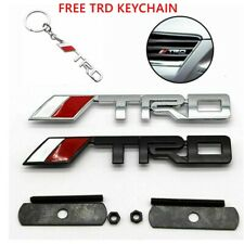 New Silver Or Black T-R-D Grill Badge Metal Emblem Front Grille Trd Grill Badge