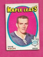 1971-72 OPC  # 80 LEAFS DAVE KEON GOOD  CARD (INV# A9417)