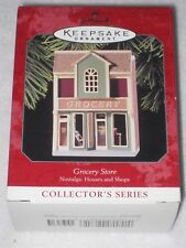 Grocery Store Hallmark Keepsake Ornament #15 Nostalgic Houses And Shops 1998