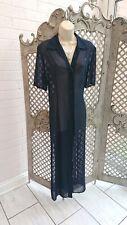 🌹 CAVITA 🌹 Diseñador Vestido Maxi Largo SPLIT Pura Azul Marino encubrir Reino Unido 16 Casual